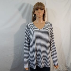 NWT NEW Ellen Tracy Size Large Top Shirt Blouse